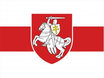 Istorinė Baltarusijos  automobilinė vėliavėlė