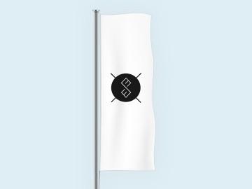 Individualaus dizaino vertikali vėliava