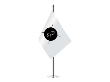 Individualaus dizaino stalo vėliavėlė