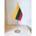 Metalinis stalo vėliavėlės stovelis