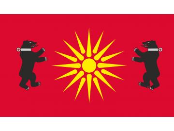 Žemaitijos vėliava su dviem meškomis ir saule
