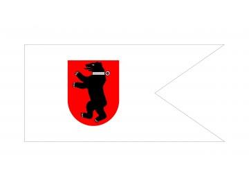Žemaitijos istorinė vėliava (meška su antkakliu)
